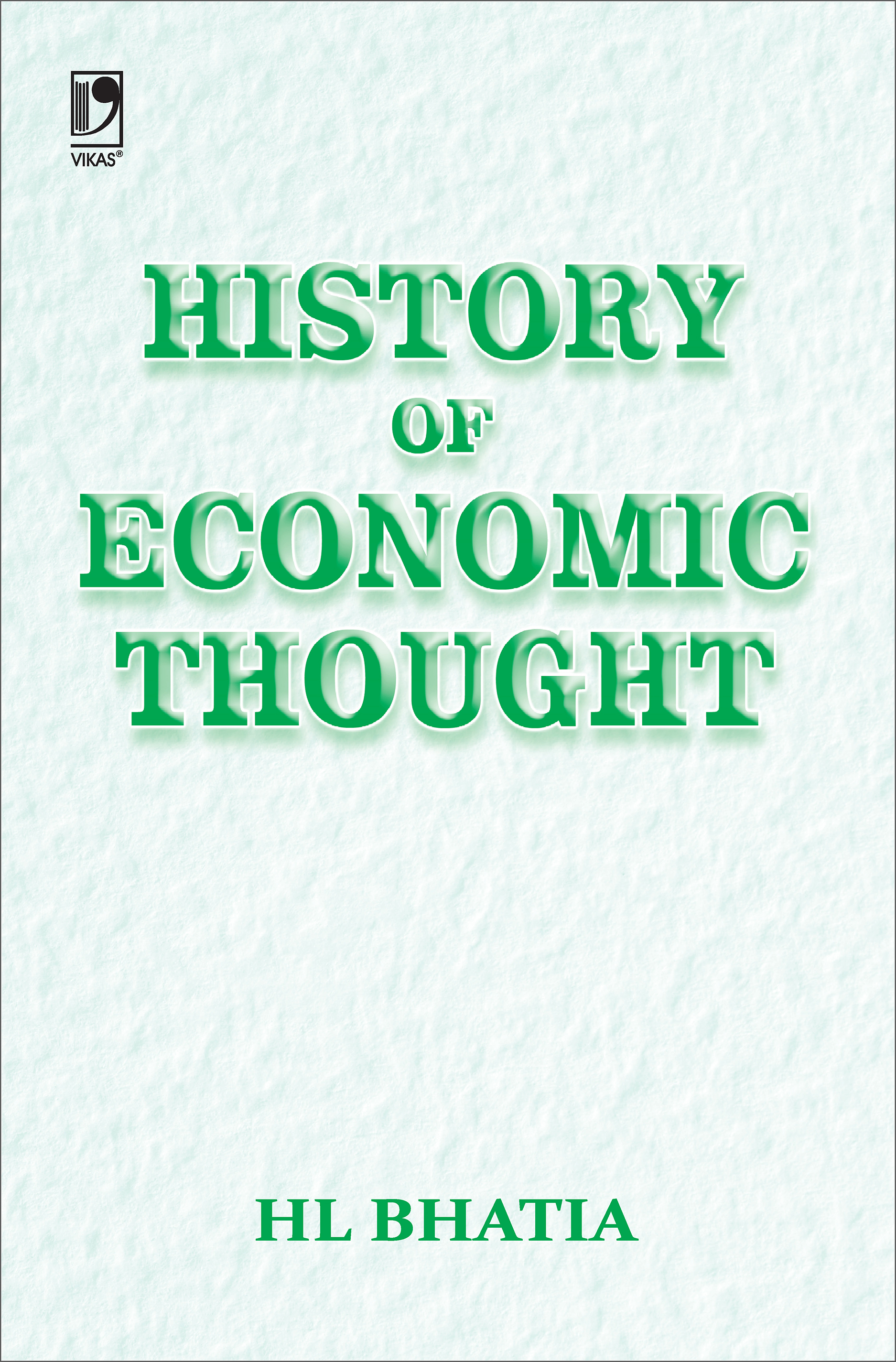History of Economic Thought, 4/e