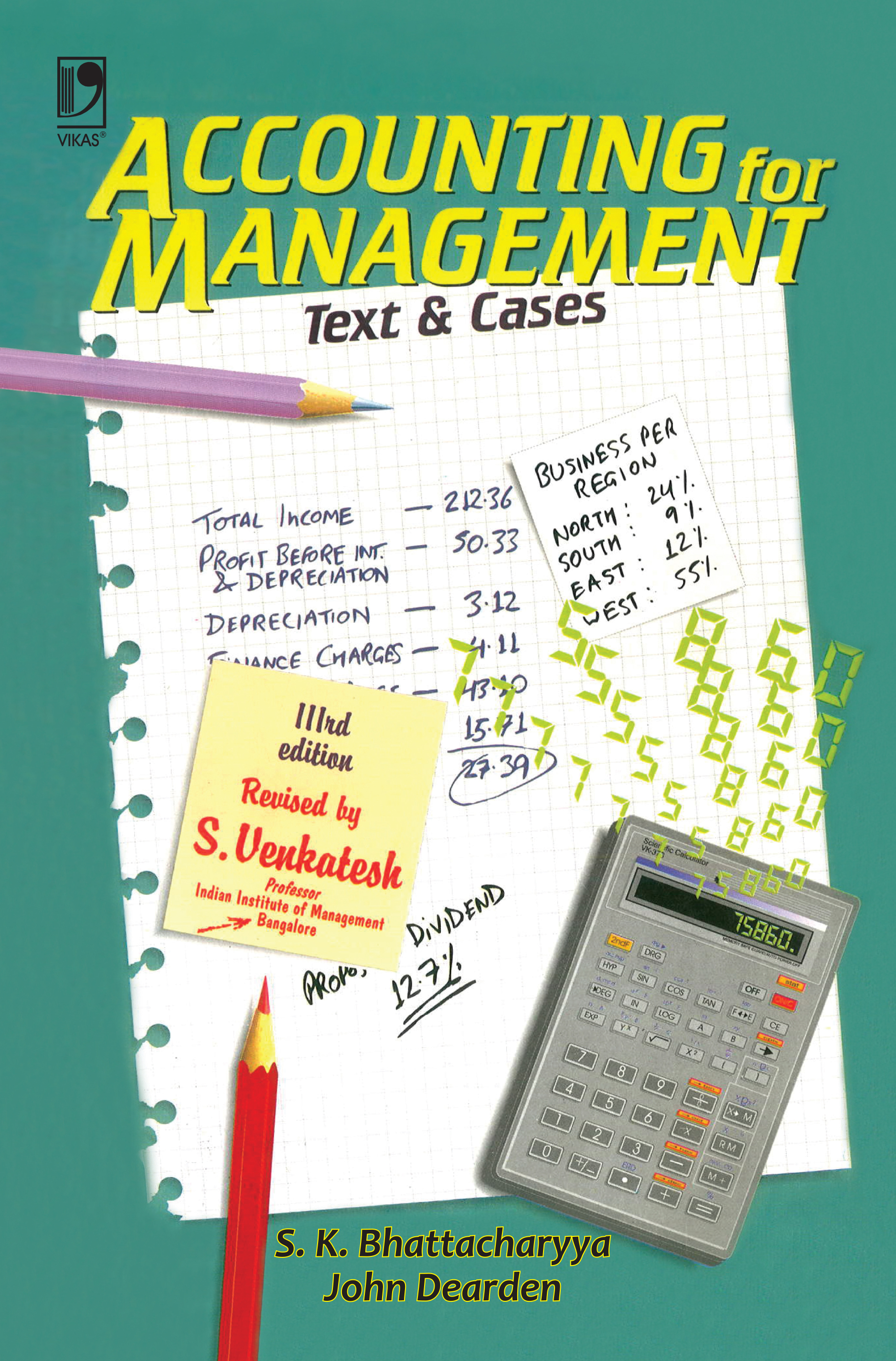 Accounting for Management: Text and Cases, 3/e