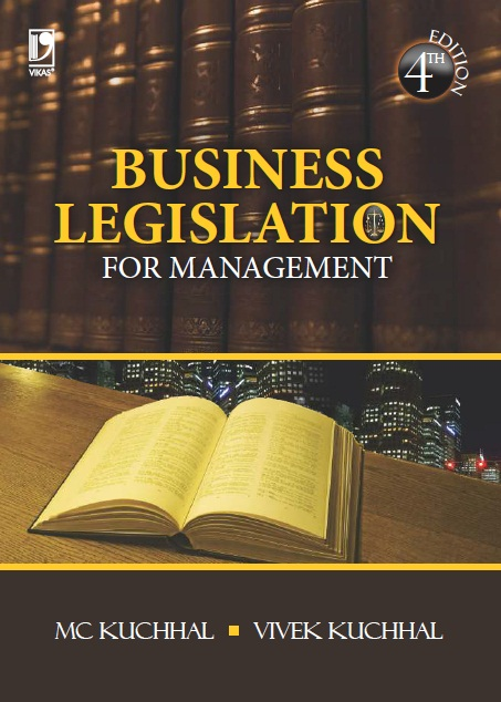 Business Legislation for Management, 4/e  by M C Kuchhal