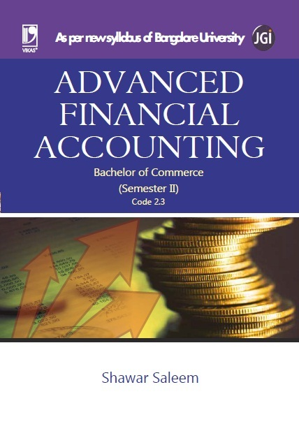 ADVANCED FINANCIAL ACCOUNTING (BANGALORE UNIVERSITY), 1/e  by  SHAWAR SALEEM