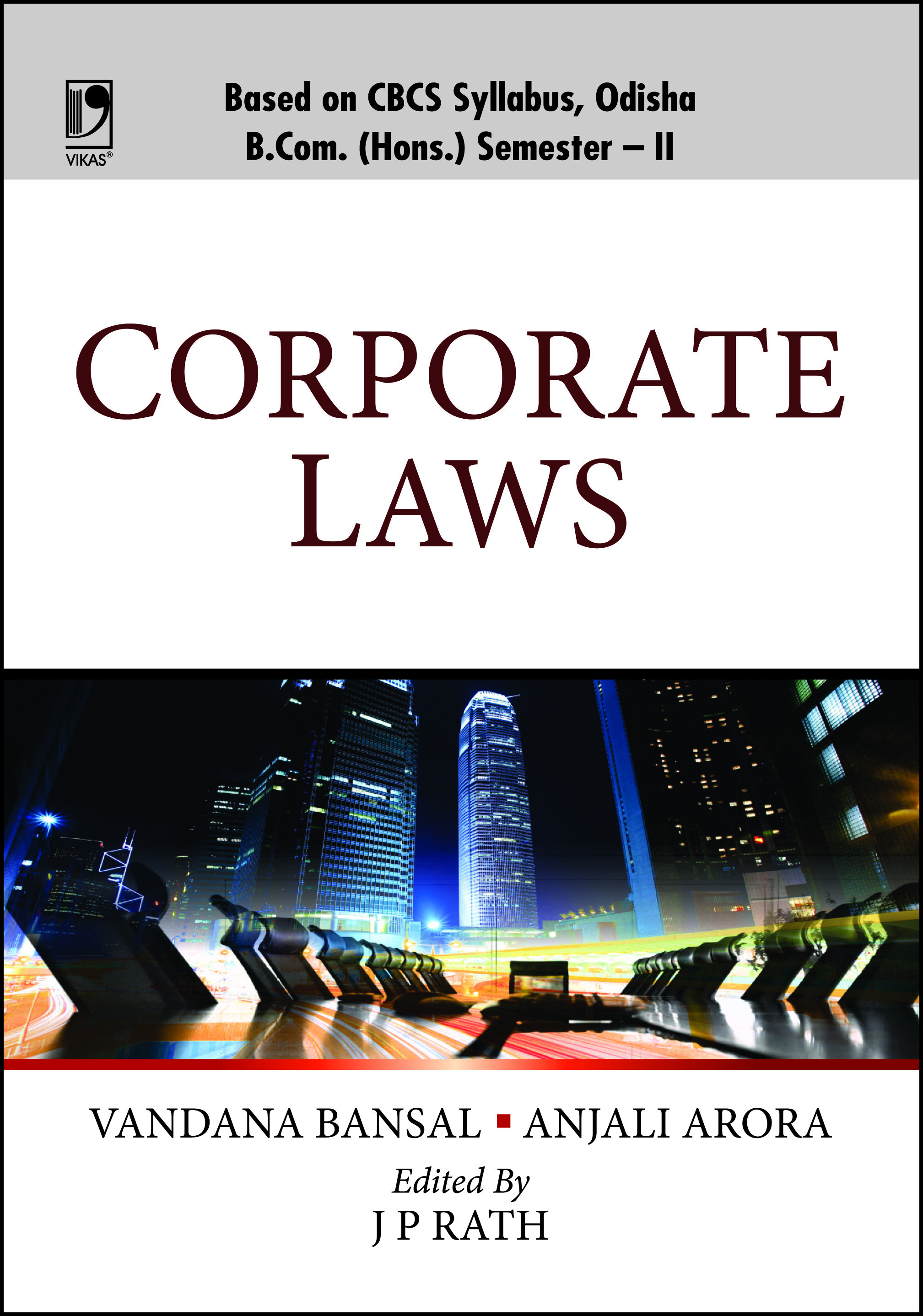 Corporate Laws (For B.Com (Hons.), Sem.-II, Odisha Universities) by  Vandana Bansal