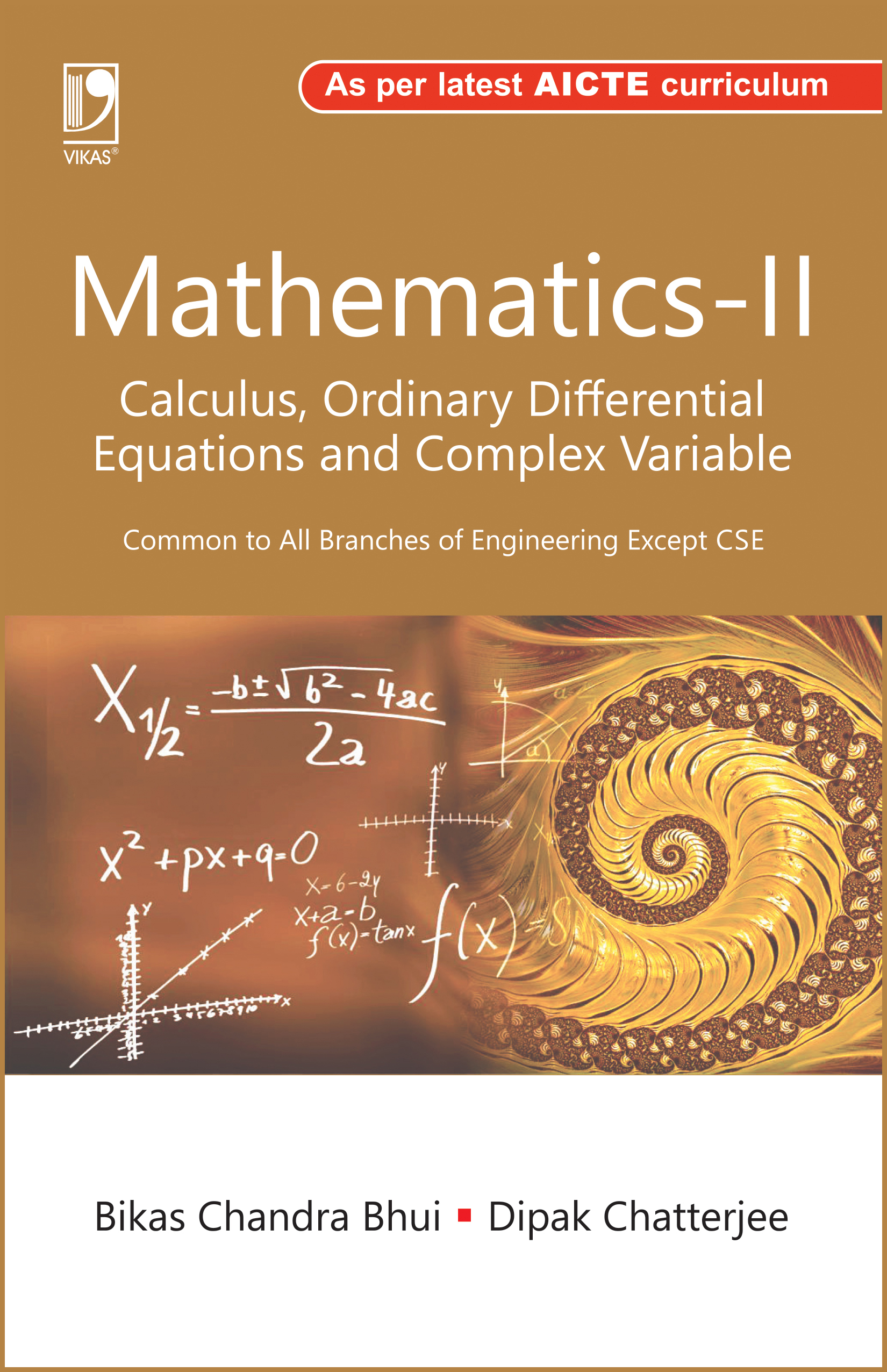 Mathematics-II (Calculus, Ordinary Differential Equations and Complex Variable) (As per AICTE) by  Bikas Chandra Bhui